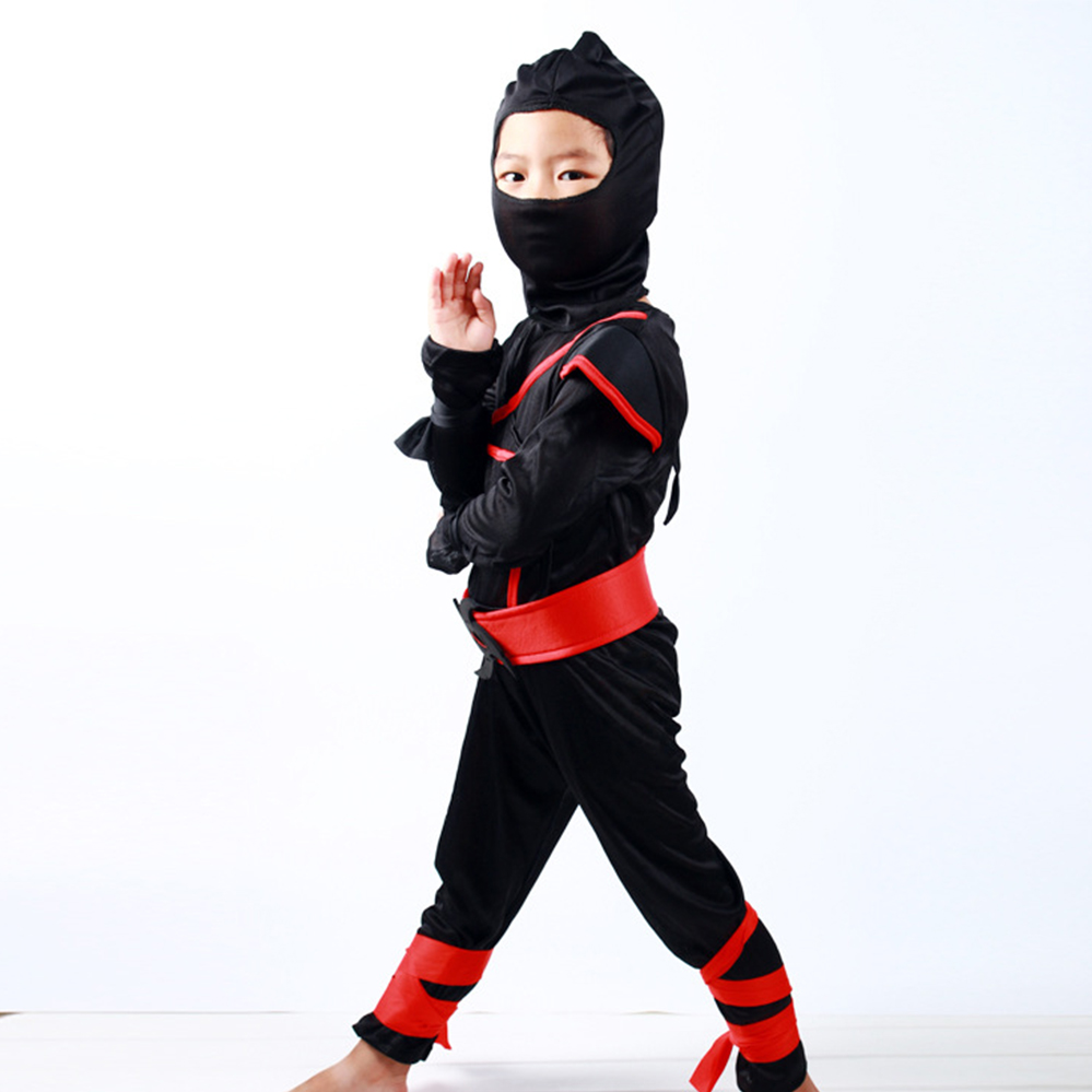 Stealth Ninja Boys Costume Child Dress Up Party Halloween Cosplay Hot Fancy Kids - eBay