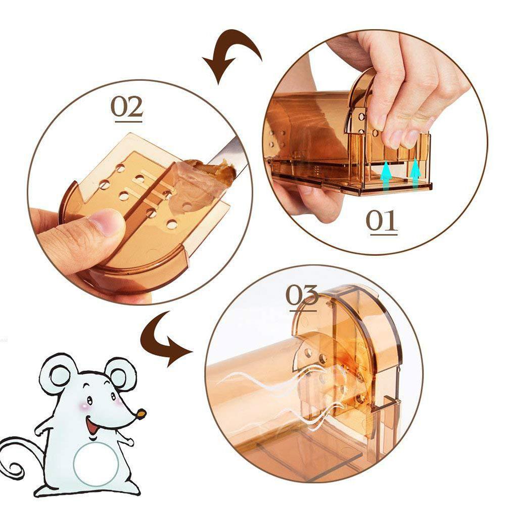 pcs mouse trap reusable  kill rodent humane child safe